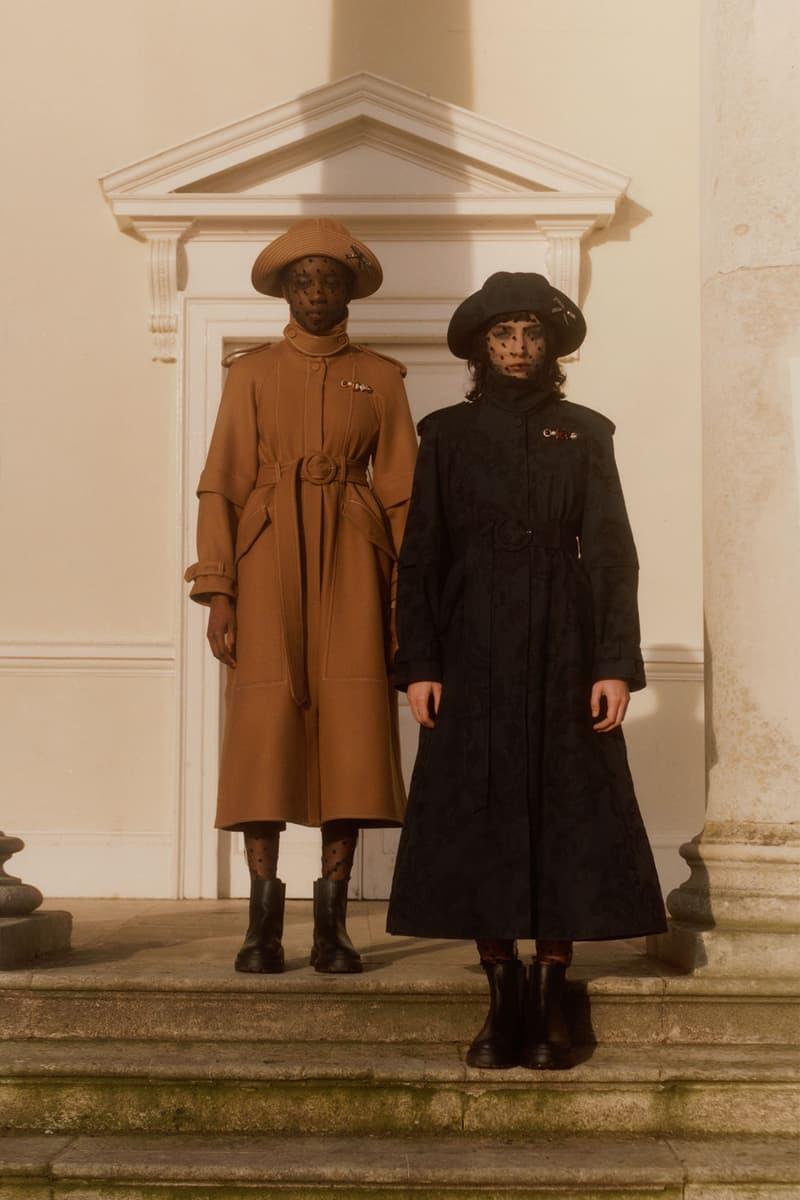 erdem moralioglu pre-fall 2021 collection lookbook nancy mitford brown black lace coats