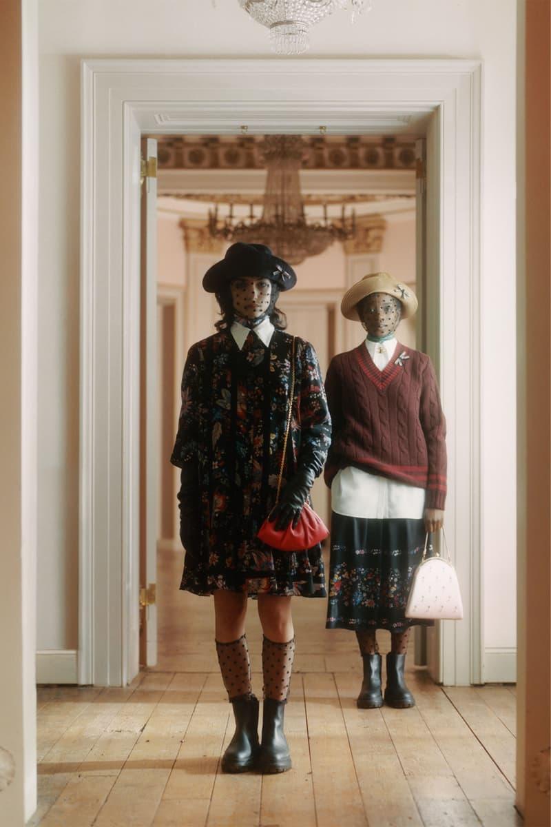 erdem moralioglu pre-fall 2021 collection lookbook nancy mitford floral dress skirt knit sweater