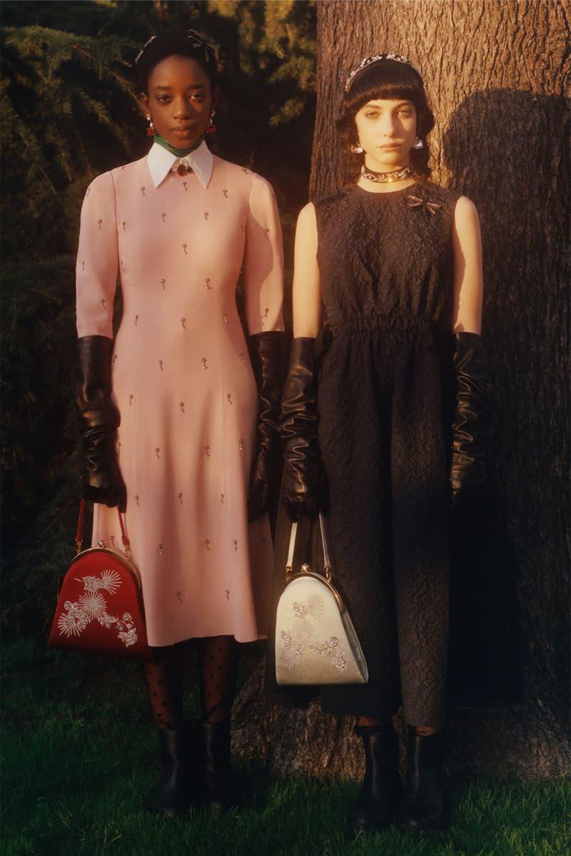 erdem moralioglu pre-fall 2021 collection lookbook nancy mitford black pink dress