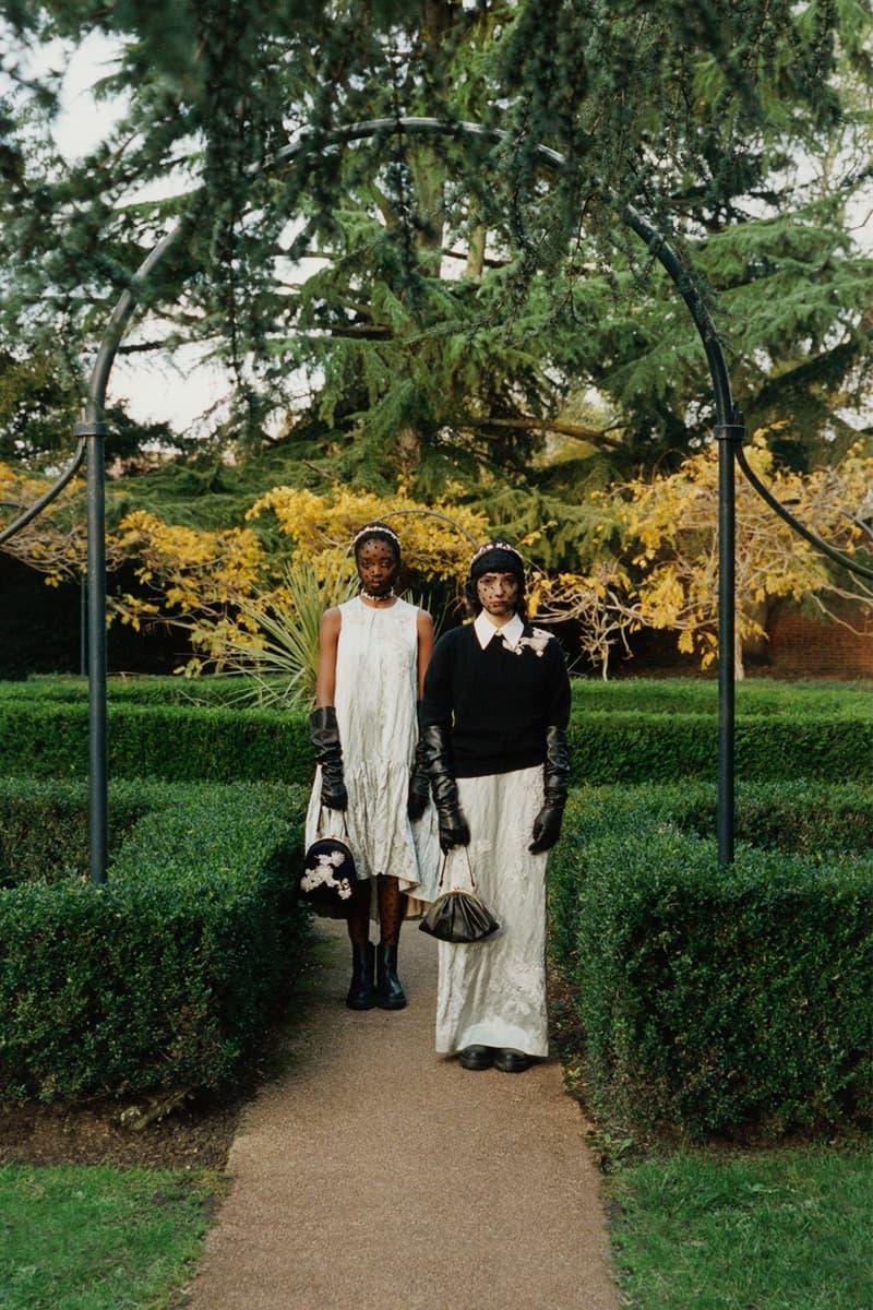 erdem moralioglu pre-fall 2021 collection lookbook nancy mitford white dress black sweater