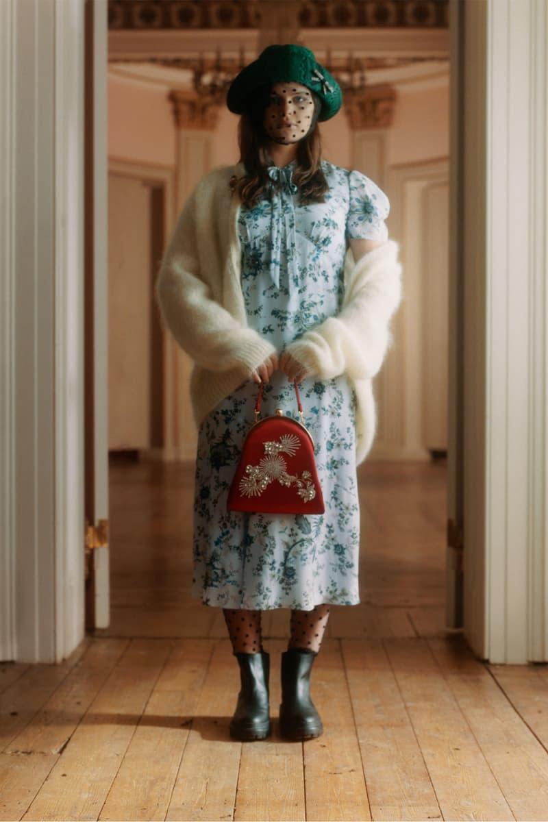 erdem moralioglu pre-fall 2021 collection lookbook nancy mitford floral dress mohair knit cashmere cardigan