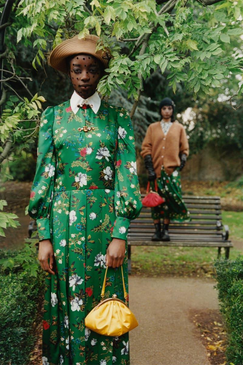 erdem moralioglu pre-fall 2021 collection lookbook nancy mitford floral green dress
