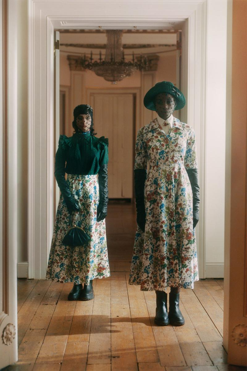 erdem moralioglu pre-fall 2021 collection lookbook nancy mitford floral skirt dresses