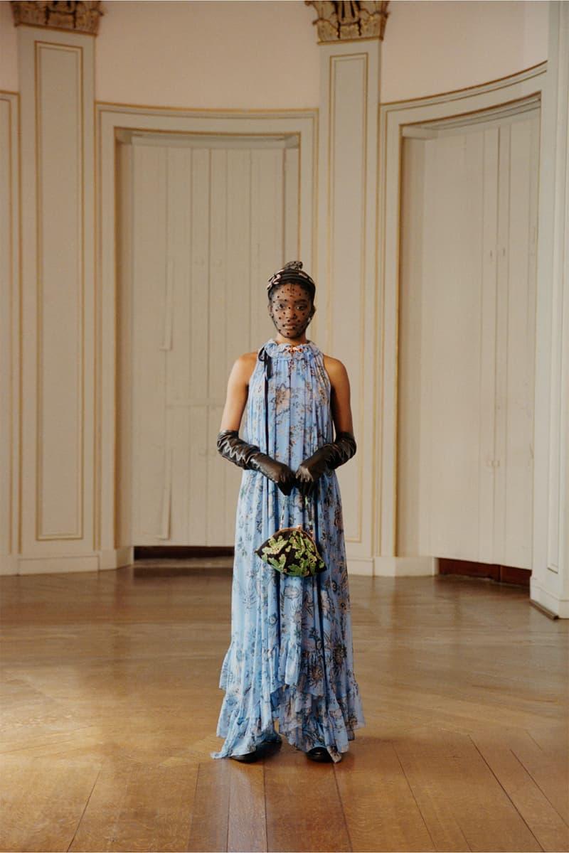 erdem moralioglu pre-fall 2021 collection lookbook nancy mitford blue floral dress