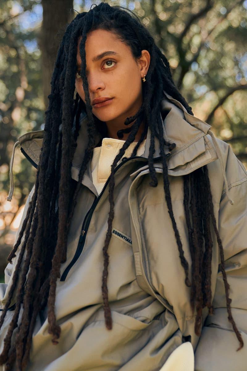 Fear of God ESSENTIALS Holiday 2020 Collection Lookbook Sweatshirt Sasha Lane