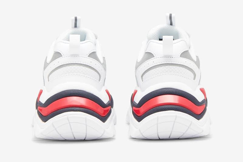 fila sneaker silhouette classic red white sport-style
