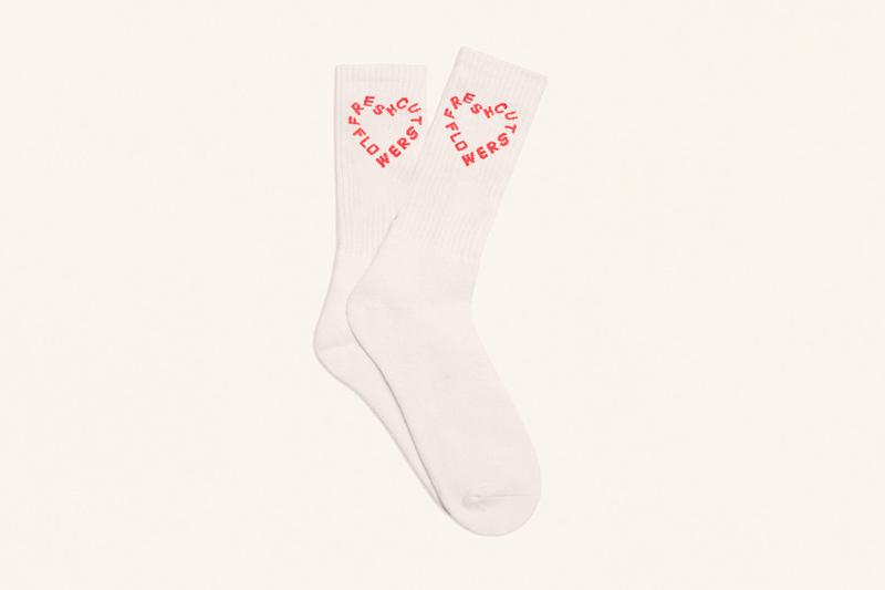 fresh cut flowers valentines day vtines hearts white red socks