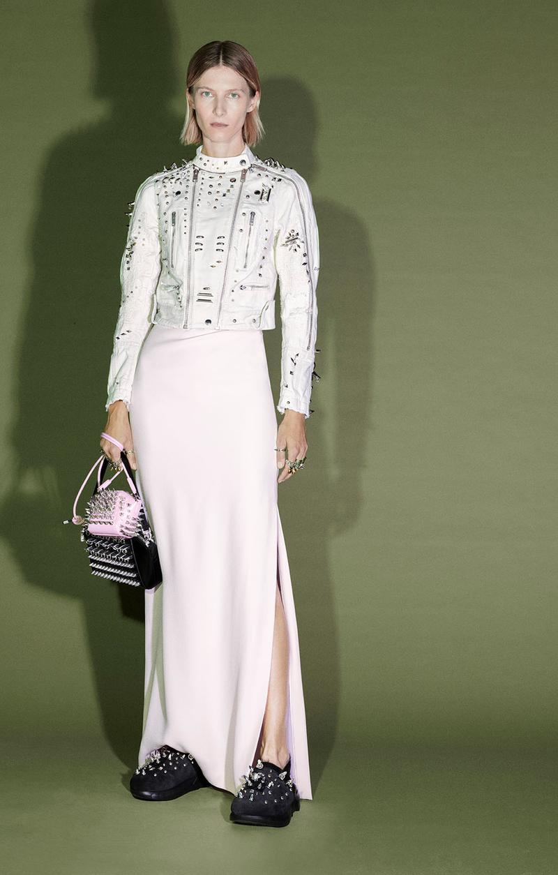 givenchy matthew williams pre-fall 2021 collection clogs marshmallow slides studs suits dresses