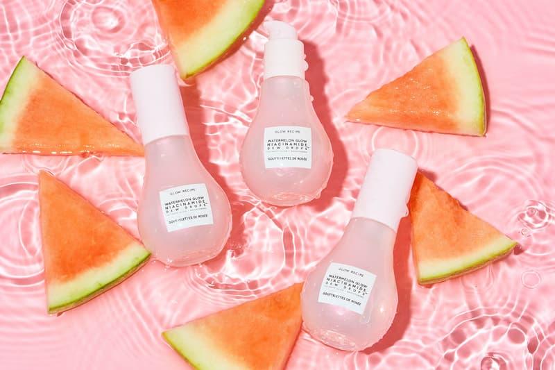 glow recipe Watermelon Glow Niacinamide Dew Drops serums primers highlighters makeup hyaluronic acid price release