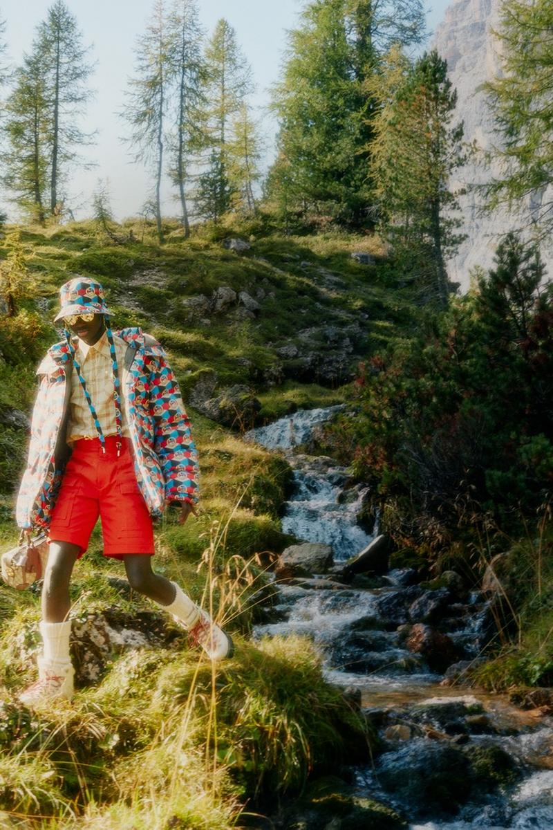 Gucci x The North Face Collaboration Collection Outerwear Label Campaign Where to Buy Release Date Tent Hiking Boots Jackets ECONYL