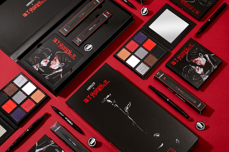 hipdot my chemical romance makeup collaboration three cheers for sweet revenge album eyeshadow eyeliner brushes