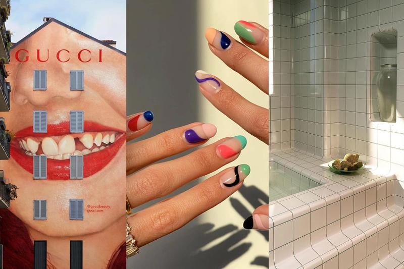 Gucci Beauty Lipstick Campaign Martin Parr Abstract Nail Art Aesthetic Bathroom Design