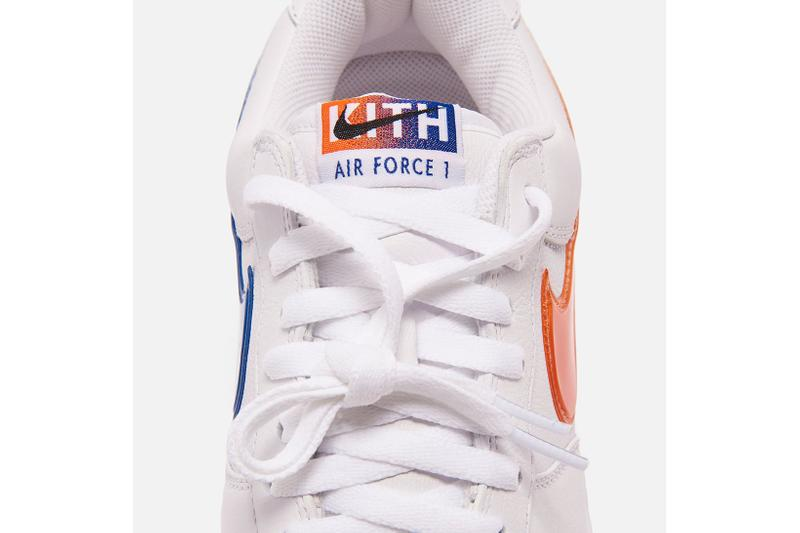 kith nike collaboration air force 1 low nyc sneakers white orange blue colorway ronnie fieg footwear shoes sneakerhead