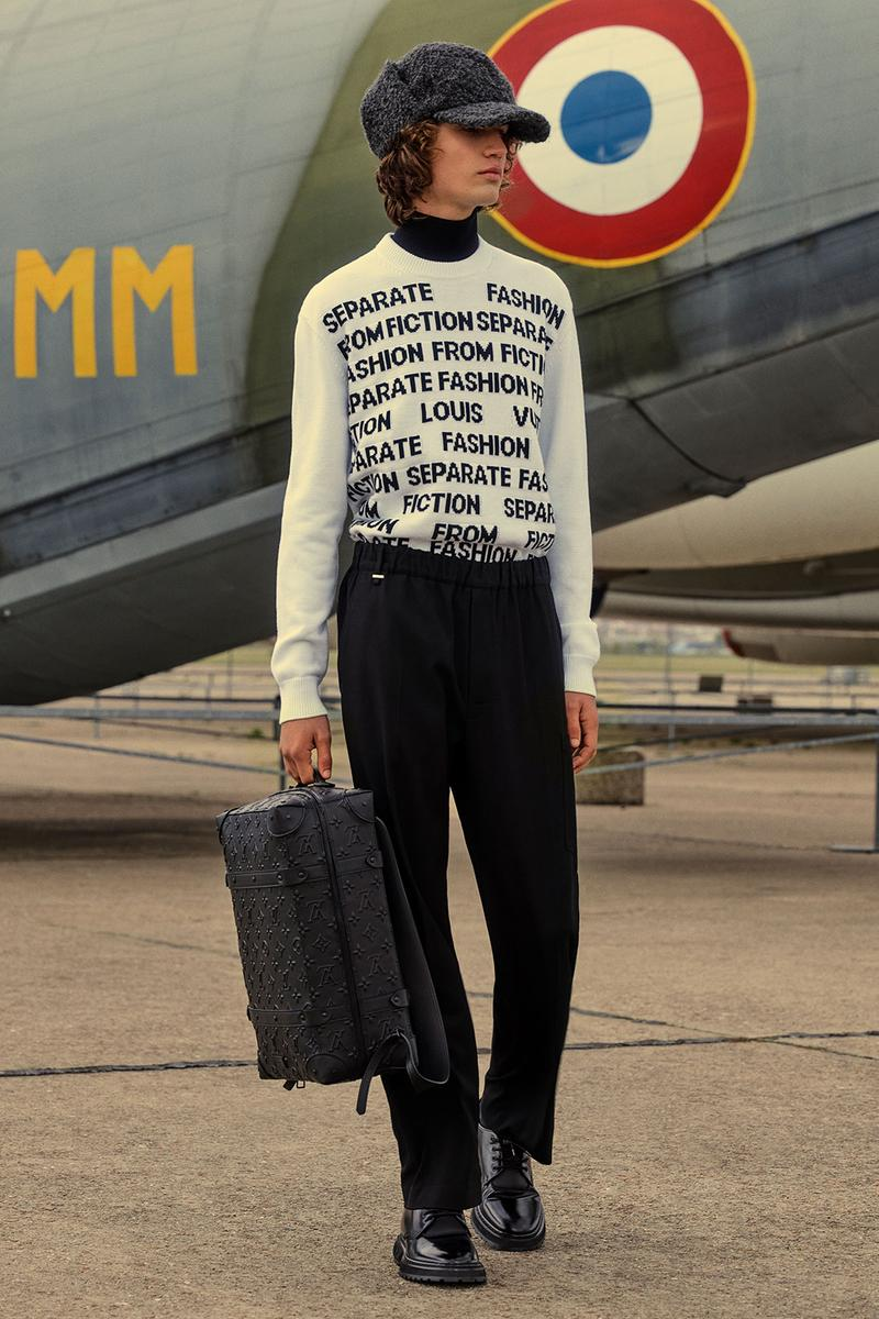 louis vuitton mens pre-fall 2021 collection lookbook virgil abloh knit sweater top soft monogram trunk backpack