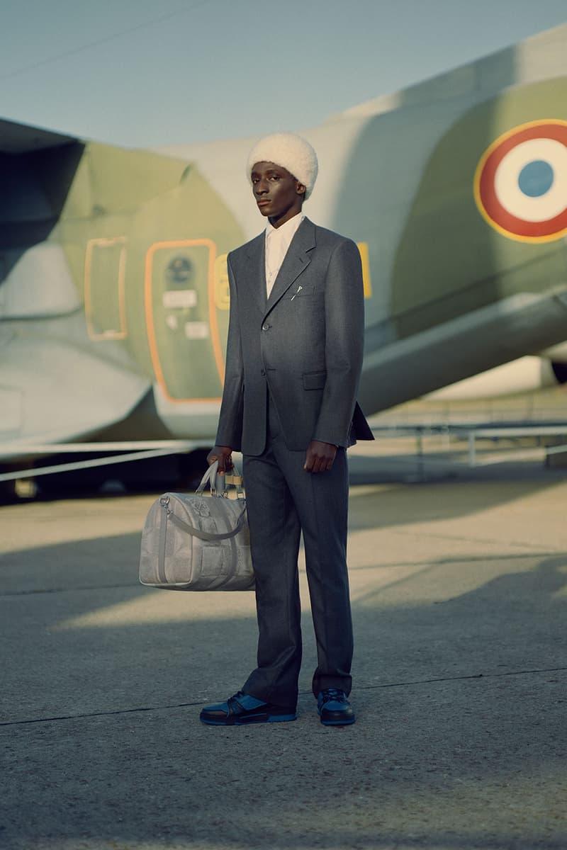 louis vuitton mens pre-fall 2021 collection lookbook virgil abloh suit speedy handbag
