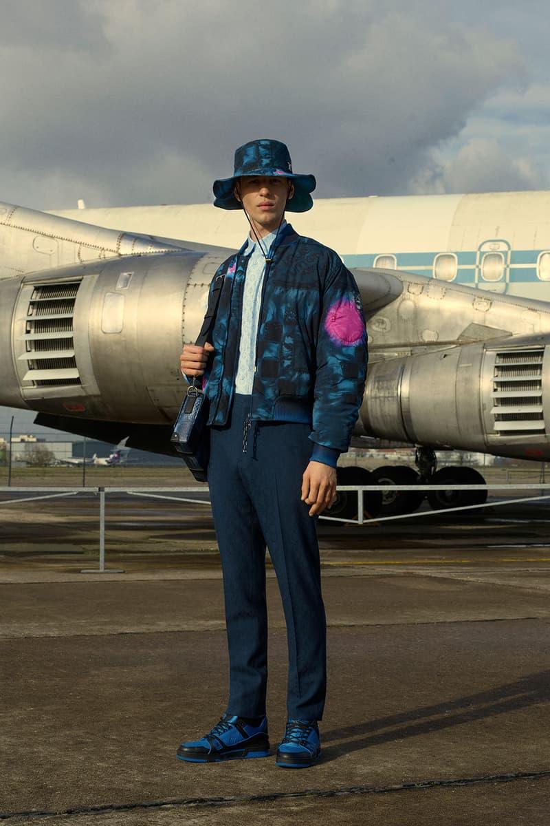 louis vuitton mens pre-fall 2021 collection lookbook virgil abloh pattern jacket hat