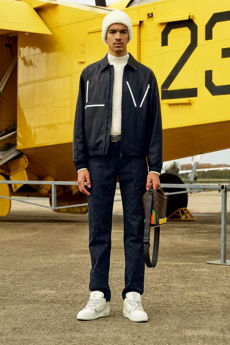 louis vuitton mens pre-fall 2021 collection lookbook virgil abloh jacket beanie lv monogram pants