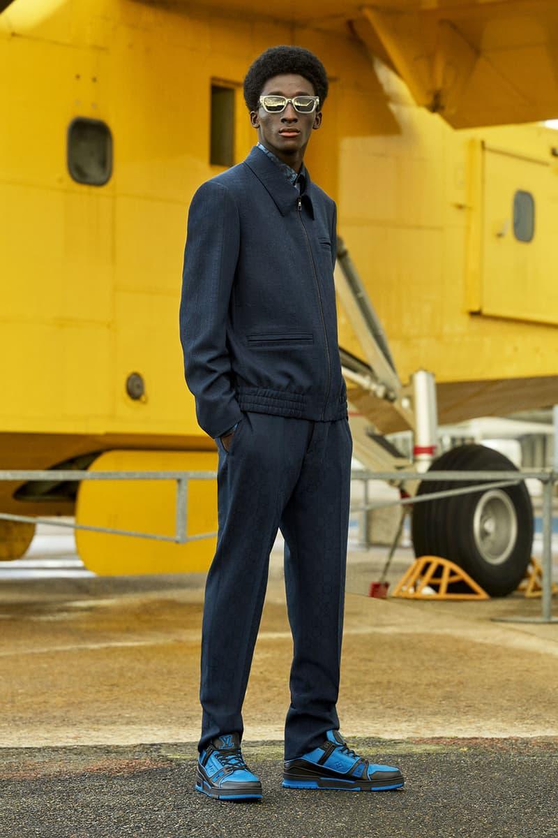 louis vuitton mens pre-fall 2021 collection lookbook virgil abloh blue black sneakers trainer