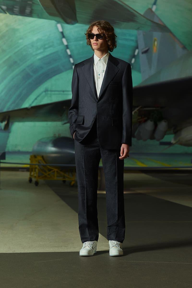 louis vuitton mens pre-fall 2021 collection lookbook virgil abloh lv monogram tailored suit