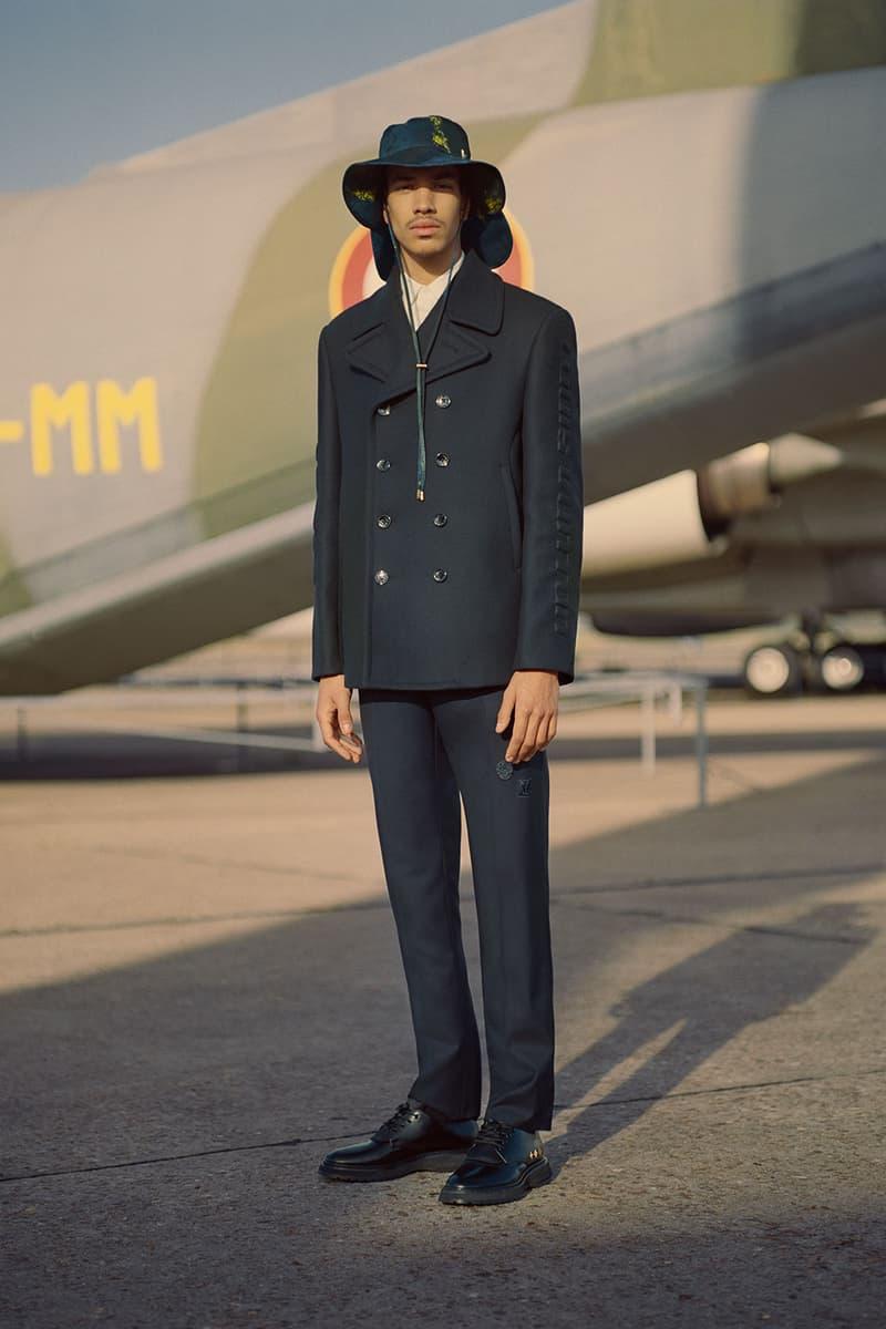 louis vuitton mens pre-fall 2021 collection lookbook virgil abloh suit hat tailored jacket