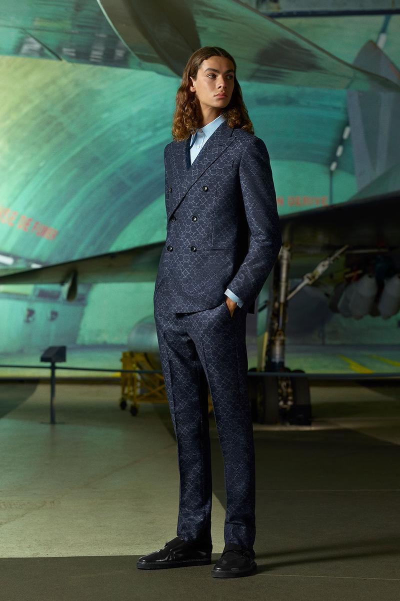 louis vuitton mens pre-fall 2021 collection lookbook virgil abloh patterned tailored suit