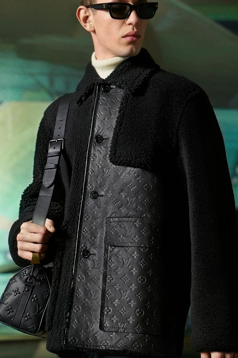 louis vuitton mens pre-fall 2021 collection lookbook virgil abloh lv monogram jacket jumper outerwear
