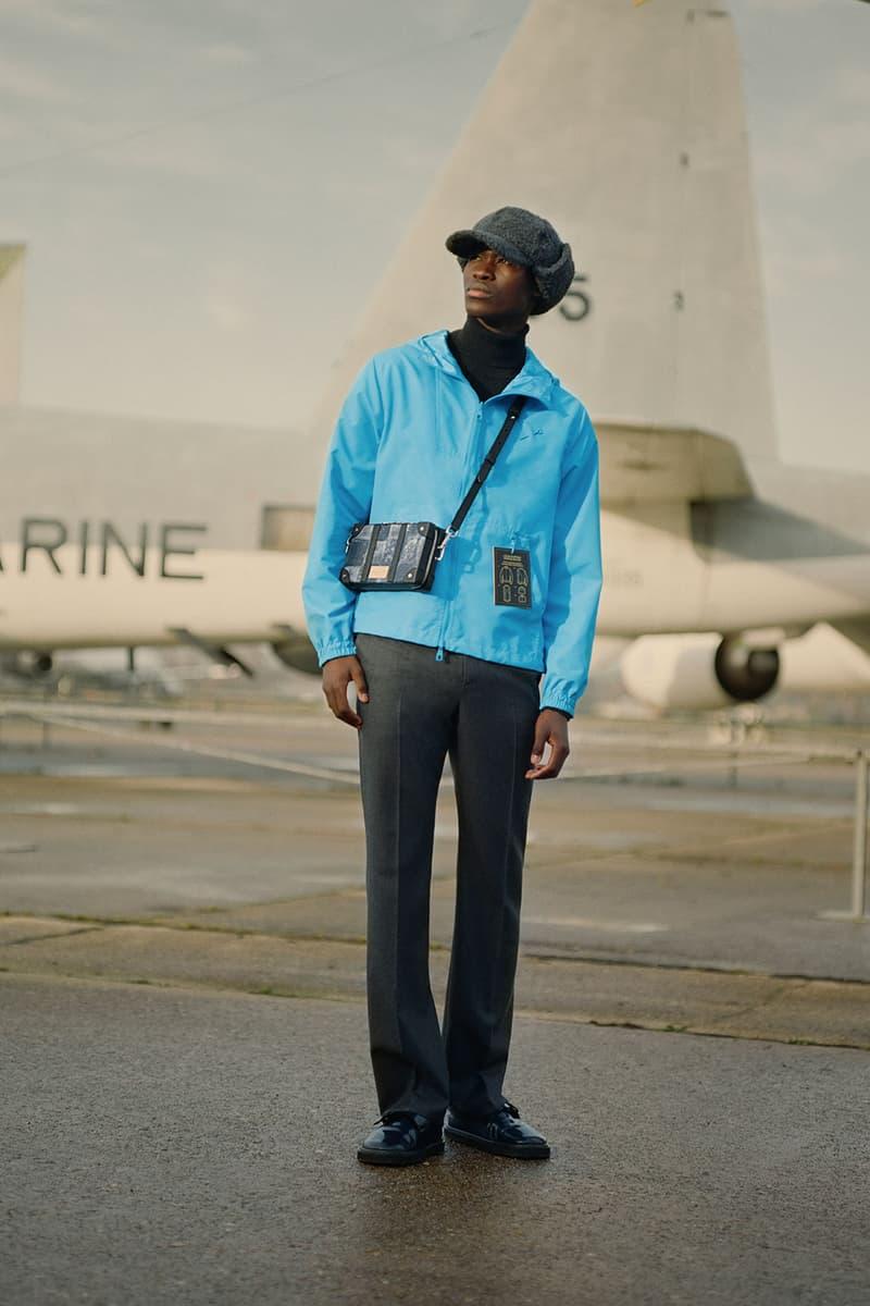 louis vuitton mens pre-fall 2021 collection lookbook virgil abloh trunk messenger blue jacket