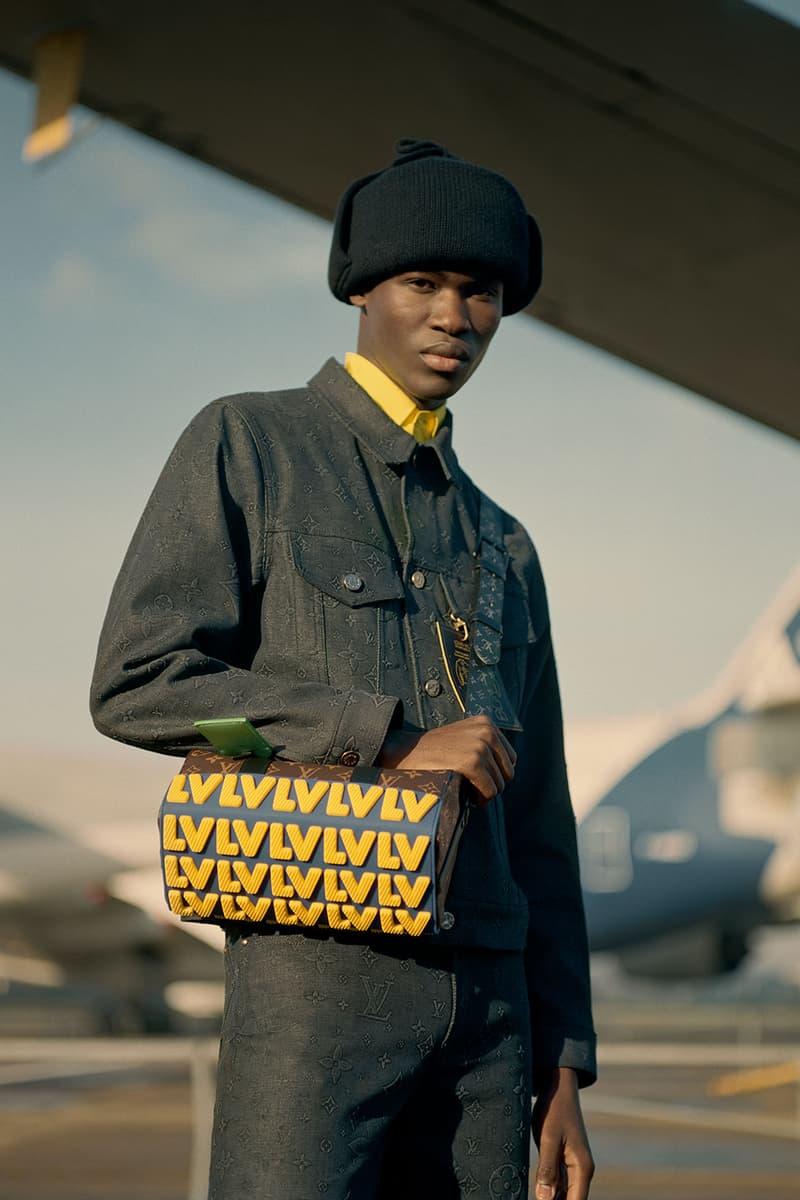 louis vuitton mens pre-fall 2021 collection lookbook virgil abloh lv monogram speedy handbag