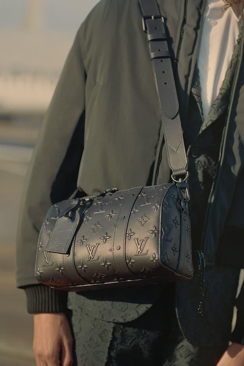 louis vuitton mens pre-fall 2021 collection lookbook virgil abloh lv monogram black speedy bag