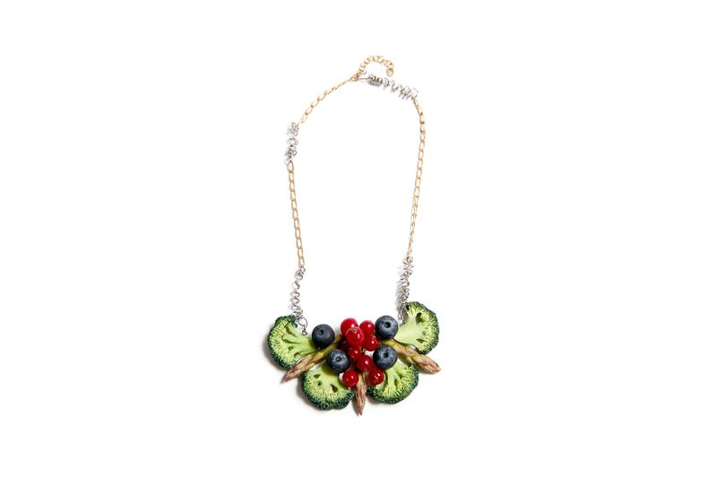 Maison Margiela Fruit Vegetable Jewelry Fresh Market Broccoli Earring Currant Brooch
