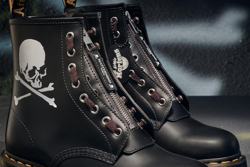 mastermind world dr martens 1460 remastered boots collaboration punk skull 60th anniversary release