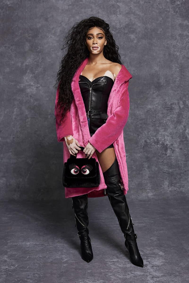 moschino pre fall 2021 womenswear collection lookbook jeremy scott winnie harlow sweatsuit dresses designer bag