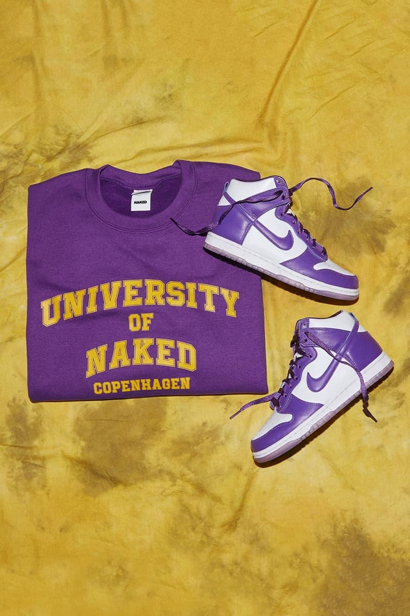naked copenhagen university editorial nike dunk high sp varsity purple malala fund education fund