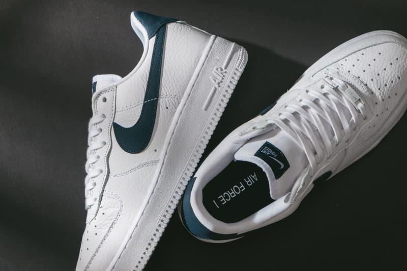 nike air force 1 07 craft sneakers white navy blue colorway footwear shoes sneakerhead