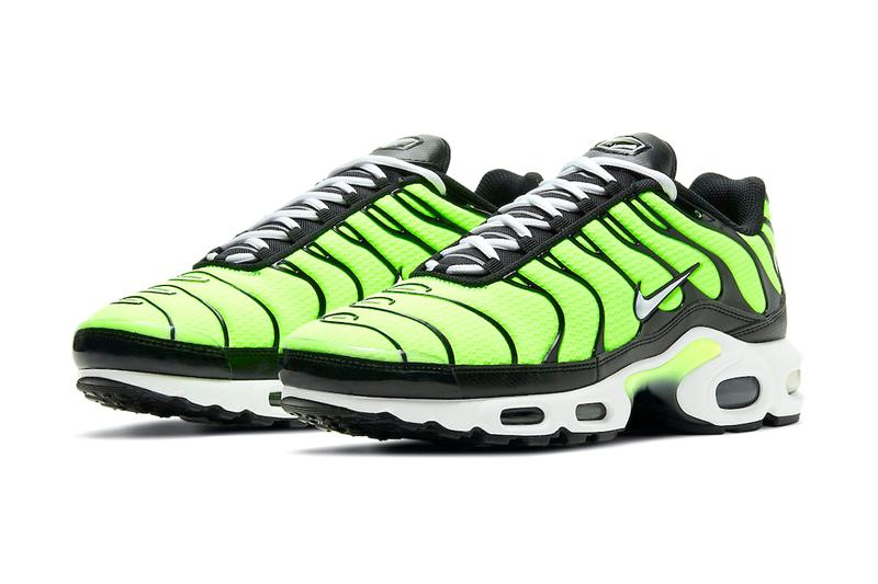 nike air max plus volt neon yellow sneakers black release date price info