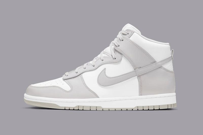 nike dunk high new colorway 2021 release vast grey gray white