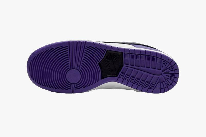 nike sb dunk low court purple black white sneakers official look release outsoles