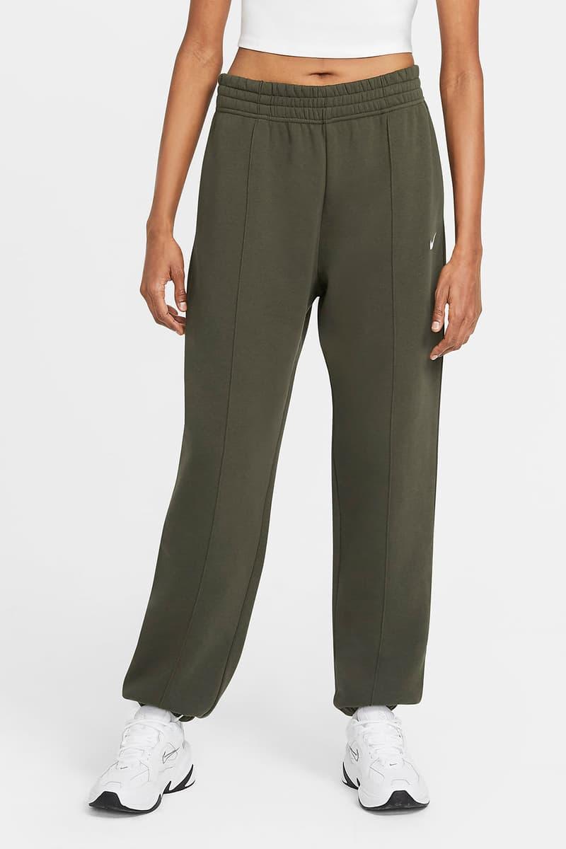 nike sportswear womens fleece sweatpants loungewear khaki green