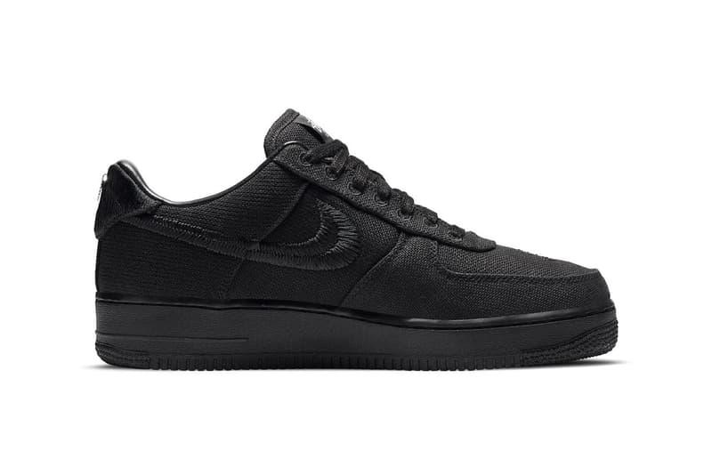 nike stussy collaboration air force 1 sneakers black colorway sneakerhead shoes footwear