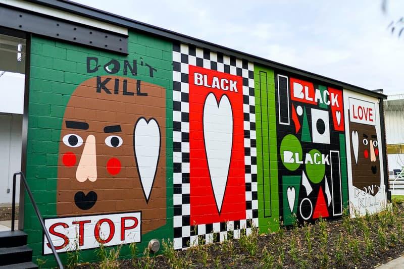 nina chanel abney new mural arkansas black lives matter racial injustice chicago artist