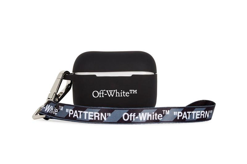 off white airpods pro cases covers black logo pattern strap