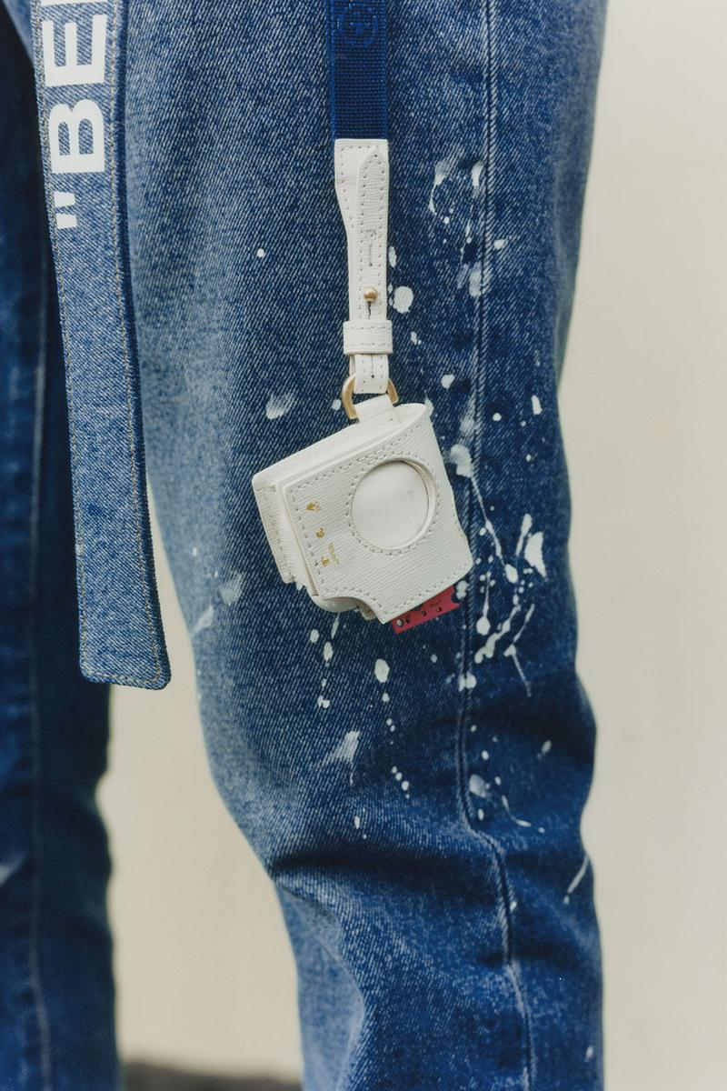 off-white wechat weixin mini program capsule collaboration china denim jeans white airpods case accessories