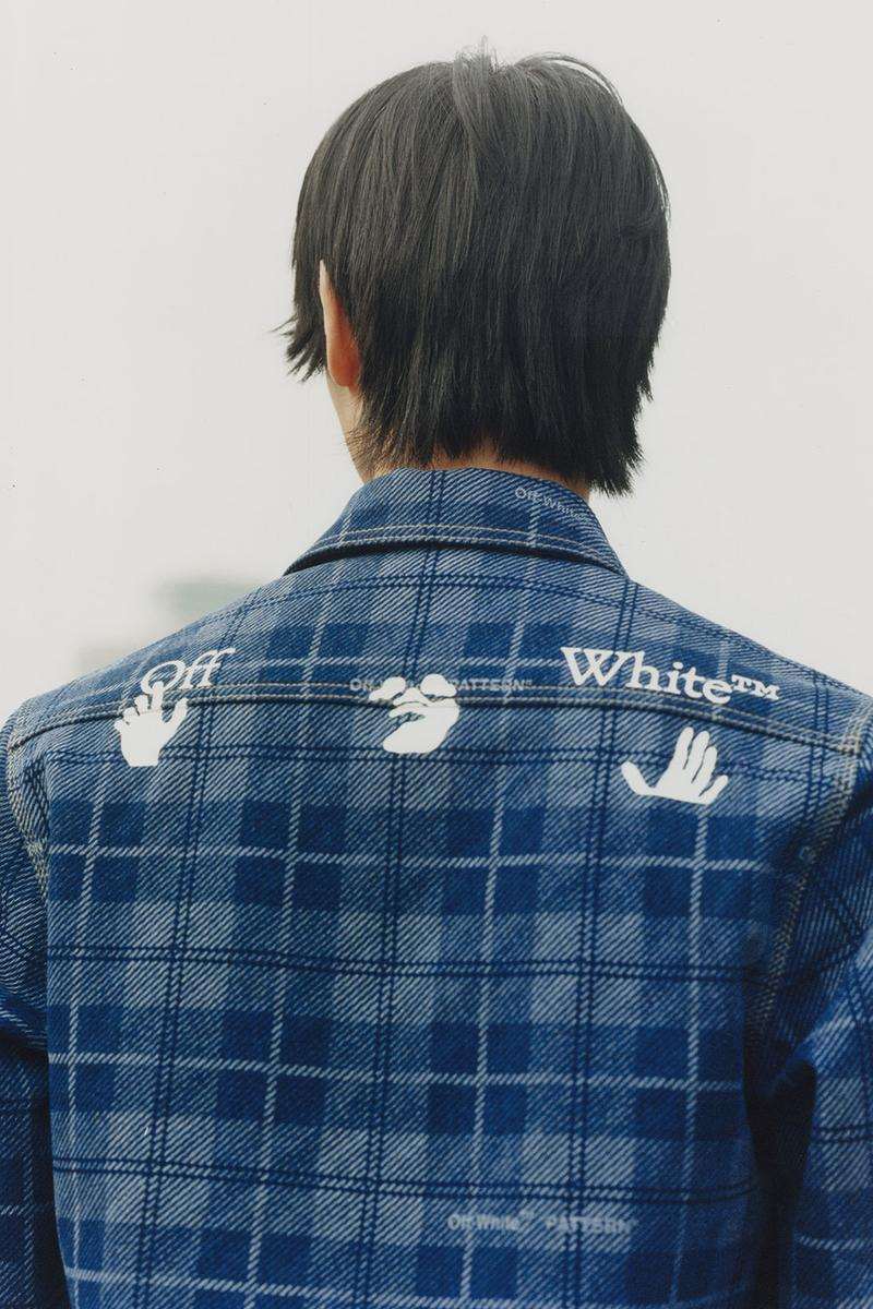 off-white wechat weixin mini program capsule collaboration china denim shirt logo patterns