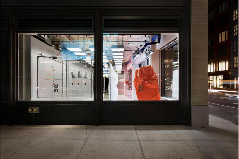 on swiss performance running sneakers brand new york city nyc flagship opening location