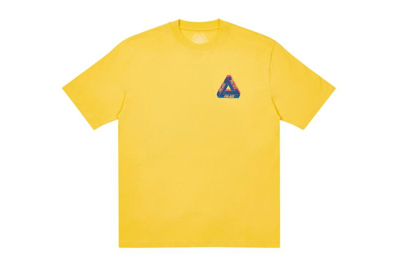 palace skateboards holiday drop 5 yellow t-shirts tees release when to buy