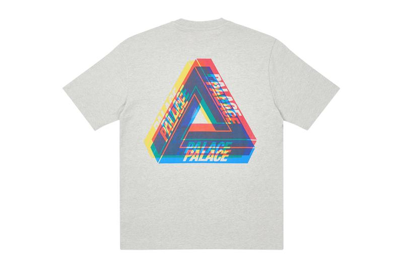 palace skateboards holiday drop 5 gray t-shirts tees release when to buy