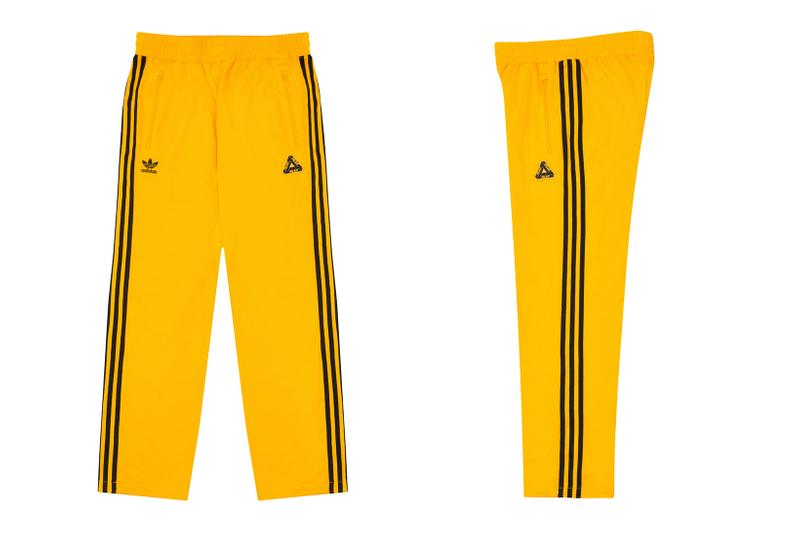 palace skateboards holiday drop 5 adidas originals tracksuits yellow pants release when to buy