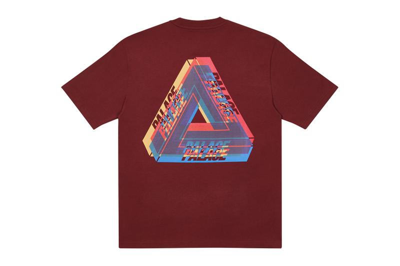 palace skateboards holiday drop 5 burgundy t-shirts tees release when to buy