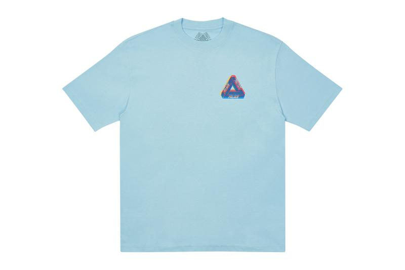 palace skateboards holiday drop 5 sky blue t-shirts tees release when to buy