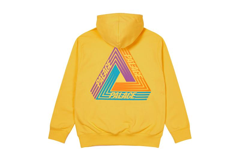 palace skateboards logo hoodies holiday drop 6 yellow